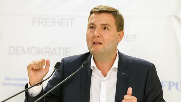 Der Linzer Gesundheitsstadtrat Michael Raml (FPÖ) verteidigt den Datenschutz im Spital (Bild: SEPA.Media | Michael Indra)