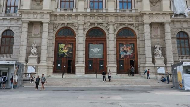 Der Tatort: Am Stiegenaufgang des Kunsthistorischen Museums wurden die Freunde vom Schlägertrupp attackiert. (Bild: Zwefo)