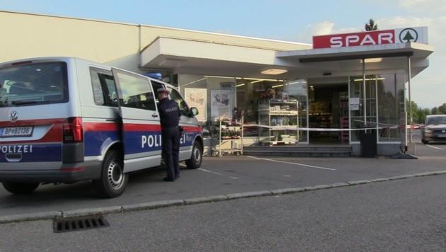 Dieser Supermarkt in Bregenz wurde von dem Räuber heimgesucht. (Bild: maurice shourot)