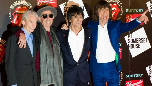 Charlie Watts, Keith Richards, Ronnie Wood und Mick Jagger (Bild: AFP)
