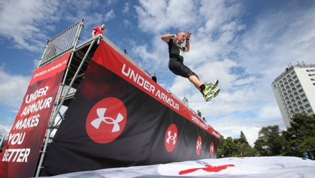 """Den """"Under Armour Bagjump"""" gibt es auch beim Innsbruckathlon. (Bild: GEPA pictures)"""