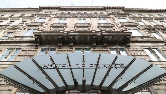 Die historische Fassade des altehrwürdigen Gründerzeithauses Hotel de France am Ring (Bild: Tomschi Peter)