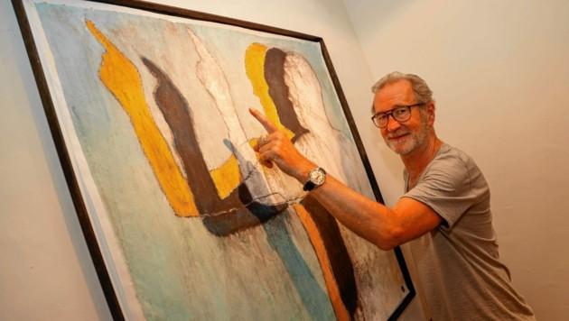 In der Wiener Galerie DISTRICT4art ist am Donnerstag die Vernissage zu Peter Lohmeyers Ausstellung. (Bild: Markus Tschepp)