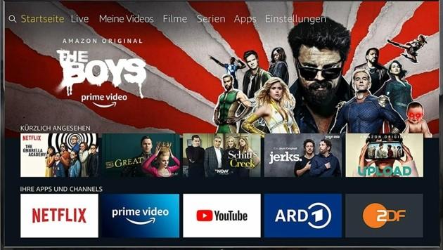 """Fernseher der MediaMarkt-Eigenmarke """"ok."""" mit Amazons Fire TV (Bild: ok. )"""