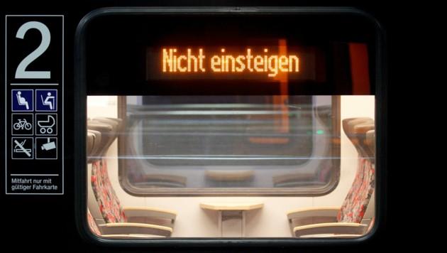 Die Lokführer machen Ernst - und die Züge in Deutschland stehen still. (Bild: APA/dpa/Roland Weihrauch)