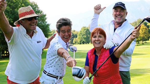 Franz Englhofer, Karin Strahner, Doris Lach und Wilhelm Rulofs spielten für das Team Mediaprint. (Bild: aufgeschnappt)