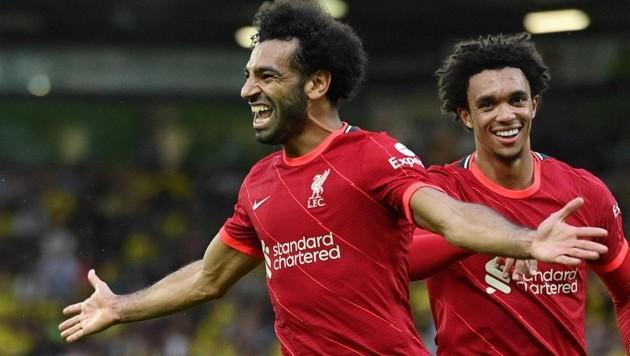 Mohamed Salah (li.) (Bild: APA/AFP/JUSTIN TALLIS)