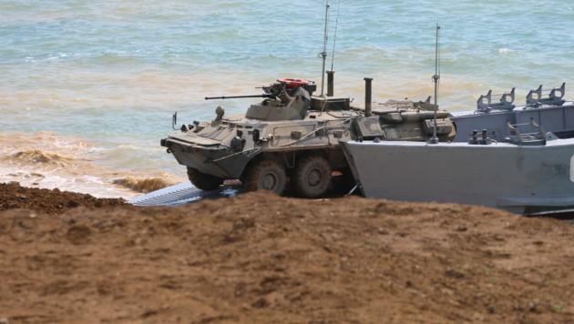 Ein russischer Panzer bei einer Militärübung auf der Krim-Halbinsel. (Bild: AFP)