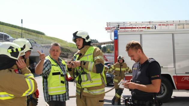 Die freiwillige Feuerwehr Oberndorf war im Einsatz. (Bild: Freiwillige Feuerwehr Oberndorf)