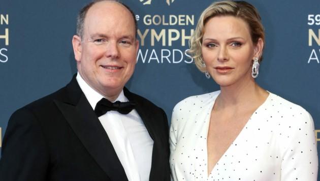 Fürst Albert und Fürstin Charlene auf einem Event 2019 (Bild: AFP or licensors)