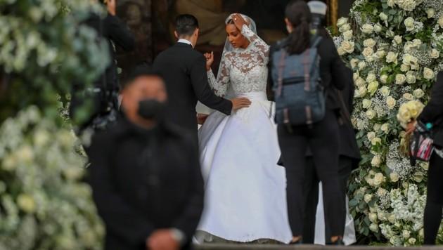 Jasmine Tookes vor der Hochzeit mit Juan David Borrero (Bild: Jose Jacome / EFE / picturedesk.com)