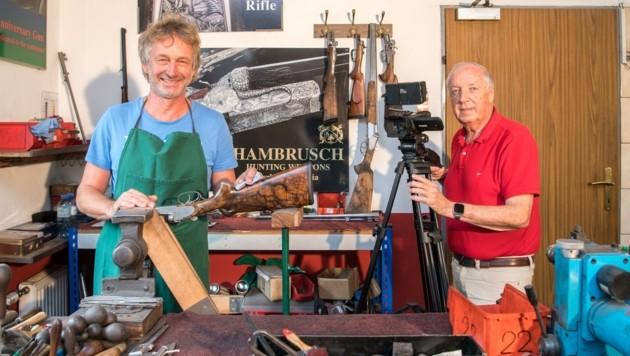 Auch Büchsenmachermeister Peter Hambrusch wurde von Wilhelm Hafner gefilmt. Am 23. 9. wird die Dokumentation präsentiert. (Bild: Arbeiter Dieter)