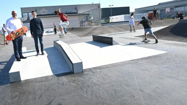 Der neue Skaterpark wurde vor Kurzem fertiggestellt. (Bild: Stadtgemeinde Eisenstadt)