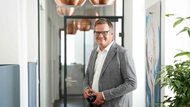 Robert Hartlauer in der Zentrale in Steyr. (Bild: Markus Wenzel)
