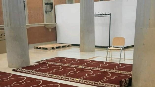 Der Empfangssaal wurde in einen Gebetsraum umgewandelt. (Bild: zVg)