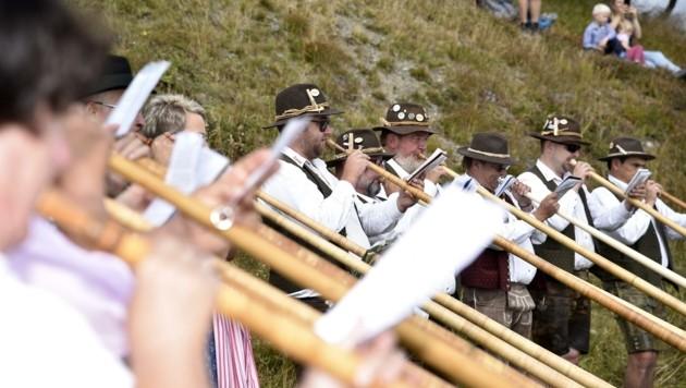 Musikanten aus Salzburg und vier weiteren Bundesländern und aus Bayern ließen sich das Treffen am Katschberg auch heuer nicht entgehen. (Bild: Holitzky Roland)
