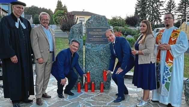 Feierliche Segnung des Roma-Gedenksteins in Stegersbach (Bild: Christian Schulter)