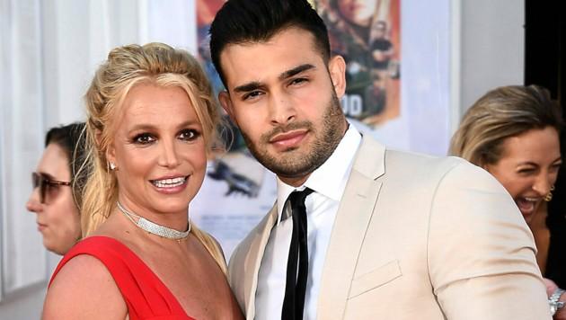 Britney Spears und Sam Asghari sind bereits seit vier Jahren ein Paar. Nun wagen sie den nächsten Schritt. (Bild: Jordan Strauss/Invision/AP)