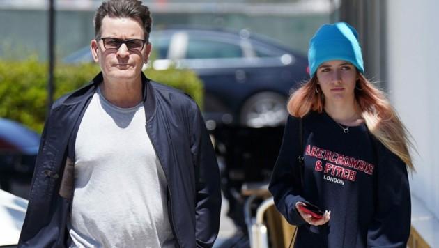 Charlie Sheen mit Tochter Sam (Bild: www.PPS.at)