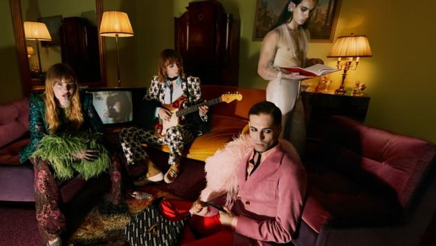 Die ESC-Sieger posieren für die neue Aria-Kampagne der italienischen Luxus-Marke Gucci. (Bild: Mert and Marcus/ Gucci)