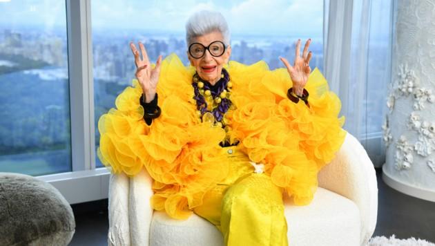 Iris Apfel ist 100 und voller Leben. (Bild: APA/Noam Galai/Getty Images for Central Park Tower/AFP)