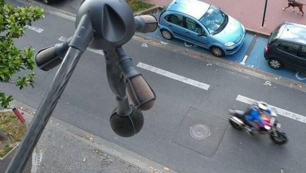 """""""Medusa"""" mit ihren Mikrofonarmen wacht hier in Paris. (Bild: Bruitparif)"""