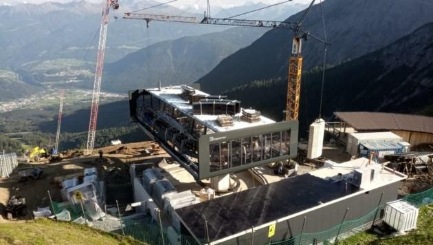 Baustelle hoch über Imst (Bild: Imster Bergbahnen)