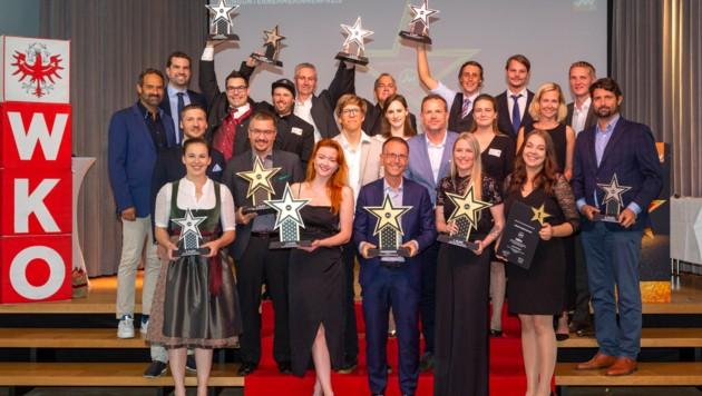 """Zum elften Mal wurde der Jungunternehmerpreis von der """"Jungen Wirtschaft Tirol"""" am Wifi-Campus in der Landeshauptstadt vergeben. In vier Kategorien gab es 95 Einreichungen. (Bild: Die Fotografen)"""