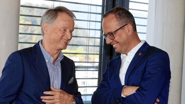 99ers-Präsident Jochen Pildner-Steinburg (l.) und Manager Bernd Vollmann fiebern dem Saisonstart entgegen. (Bild: GEPA pictures)