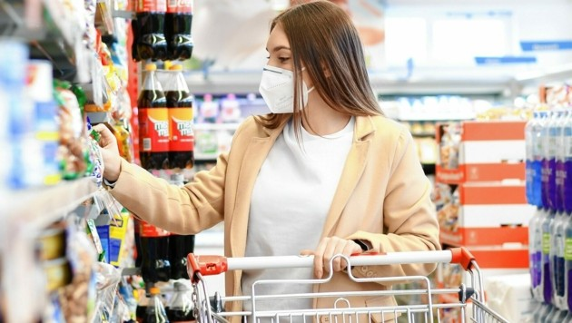 Ab Mittwoch gilt in Supermärkten eine FFP2-Maskenpflicht. (Bild: Daniel Scharinger)
