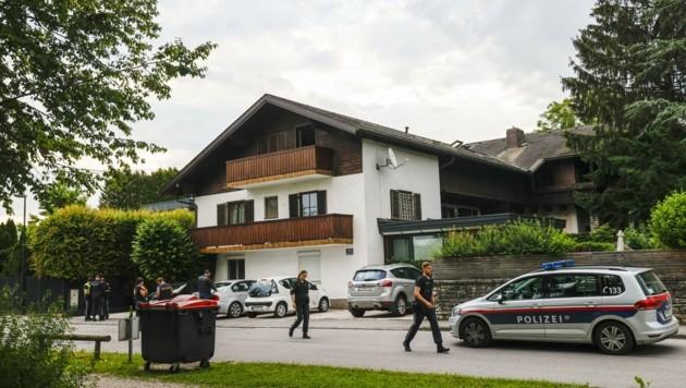 Tatort: Vor diesem Wohnhaus in Salzburg-Leopoldskron passierte der Vorfall. (Bild: Tschepp Markus)