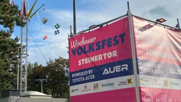 97 infizierte Personen besuchten das Wachauer Volksfest in Krems. (Bild: Frings)