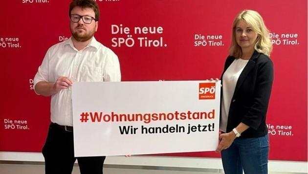 SPÖ-Stadtparteivorsitzender Benjamin Plach und StR Elisabeth Mayr (Bild: zVg)