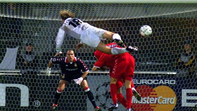 Markus Schopp war beim 2:0-Heimspiel-Sieg gegen Monaco 2000 mit zwei Toren der große Held (Bild: Honorar)