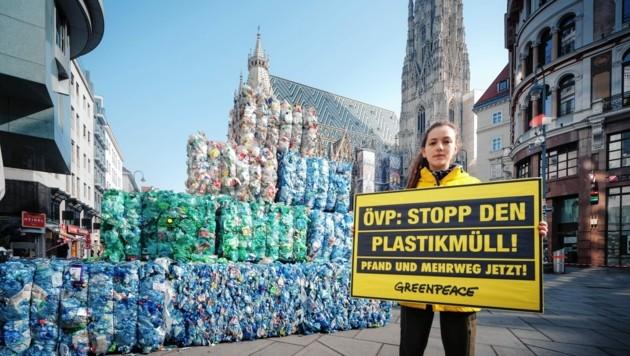 Der derzeitige Vorstoß der Organisation richtet sich gegen die Plastikflut. (Bild: Greenpeace/Mitja Kobal)