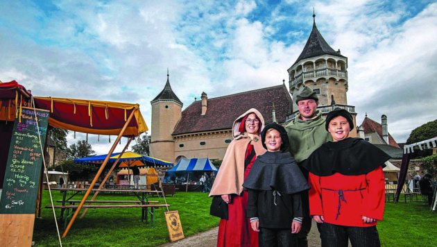 """Burgherren für einen Tag: die """"Krone"""" und die Rosenburg machen es auch heuer möglich! (Bild: Imre Antal)"""