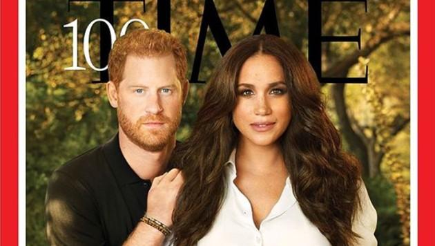 """Prinz Harry und Herzogin Meghan schafften es nicht nur aufs Cover des """"Time""""-Magazins, sondern wurden zudem in die Liste der 100 einflussreichsten Menschen 2021 gewählt. (Bild: instagram.com/time)"""