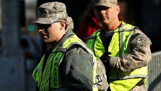 Mitglieder der Nationalgarde in Boston (Bild: APA/AFP/GETTY IMAGES)