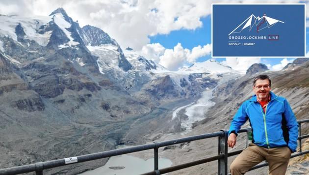 Gletscherforscher Gerhard Lieb untersucht seit Jahren Österreichs größten Gletscher, die Pasterze unterhalb des Glockners. (Bild: Anja Kröll; Krone KREATIV)