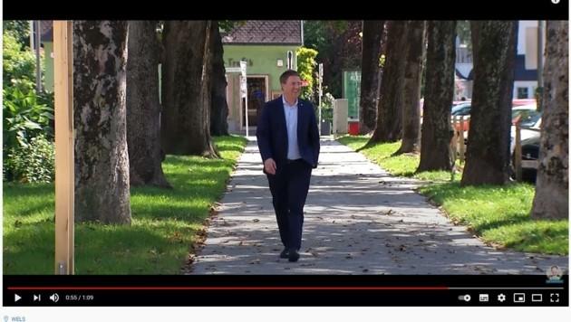 Nun übernahm der Welser Stadtchef Rabl (FP) die SPD-Inhalte (Bild: Youtube)