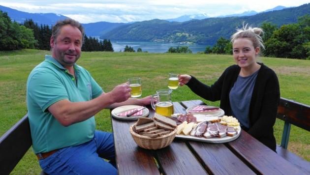 Bei Gustav Unterlerchner und Anna schmeckt alles gut. (Bild: Dengel Waltraud)