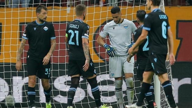 Lazio-Goalie Thomas Strakosha wurde zum großen Pechvogel. (Bild: AP)