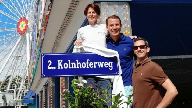 Ehre zum 100-Jahr-Jubiläum: der Kolnhoferweg (Bild: Zwefo)