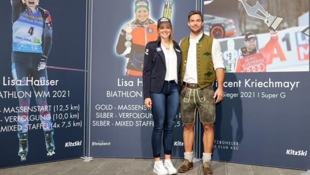 Lisa Hauer (li.) und Vincent Kriechmayr (re.) (Bild: GEPA pictures)