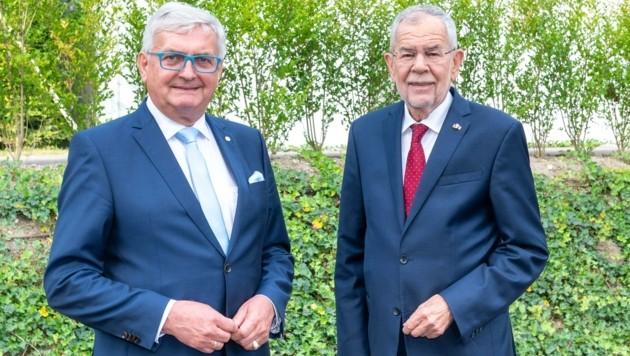 Ein klares Bekenntnis gab es von Gemeindebund-Präsident Alfred Riedl und Bundespräsident Alexander Van der Bellen in Tulln auch zum Klimaschutz. (Bild: molnar attila)