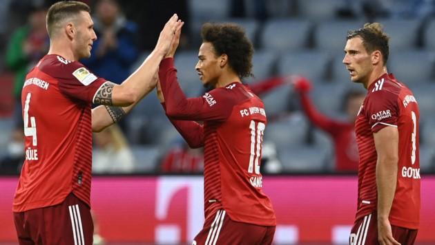 Niklas Süle, Leroy Sane und Loeon Goretzka. Bald nicht mehr in der gleichen Mannschaft? (Bild: AFP)