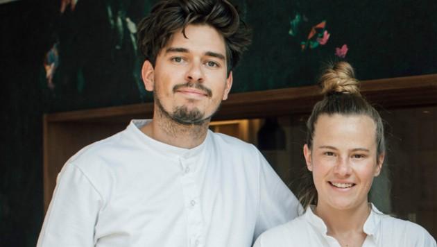 Milena Broger und Erik Pedersen harmonisieren nicht nur privat, sondern kommen auch beruflich in der Küche und am Herd bestens miteinander aus. (Bild: Mathis Fotografie )