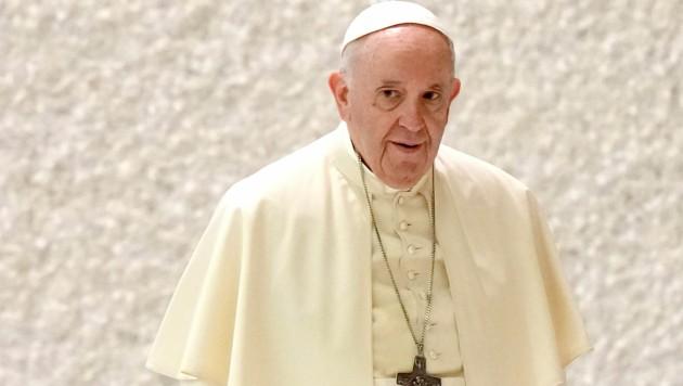 Papst Franziskus vor einer Audienz im September 2021. (Bild: AP)
