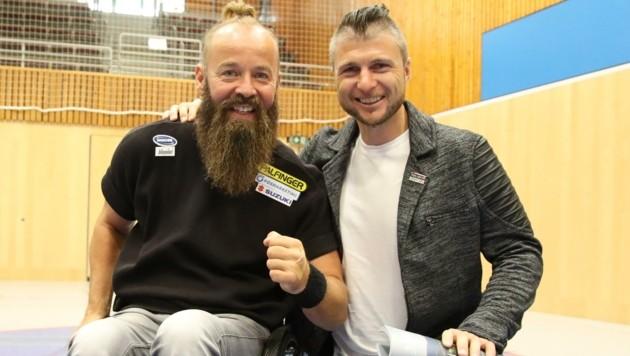 Ebenfalls von Rif begeistert: Tom Geierspichler (li.) und Reinfried Herbst. (Bild: Tröster Andreas)