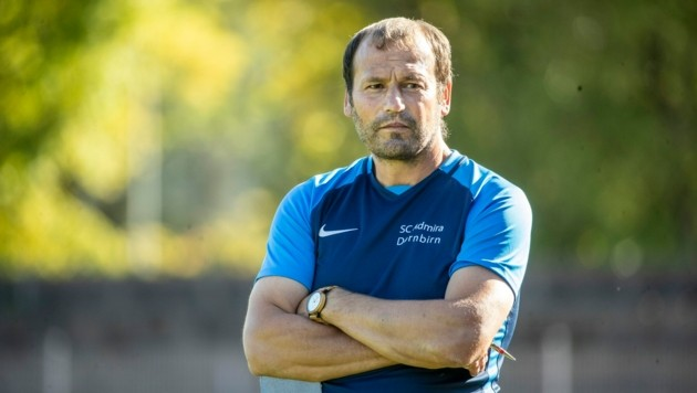Coach Herwig Klocker und seine Admira Dornbirn sind wieder an der Eliteliga-Spitze angekommen. (Bild: Maurice Shourot)